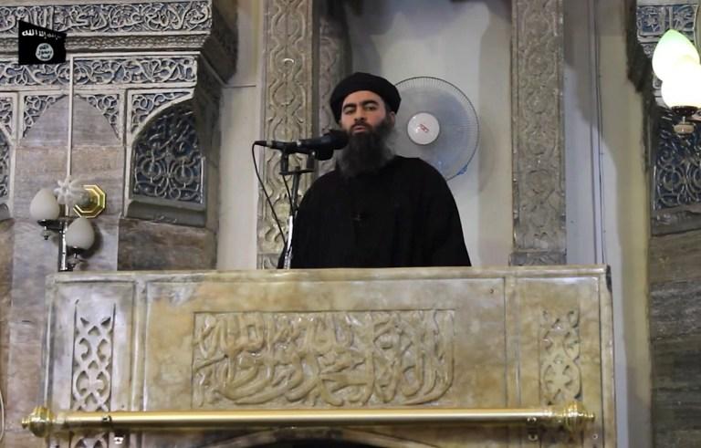 Abou Bakr Al-Baghdadi, chef de l'Etat Islamique (©AL-FURQAN MEDIA - AFP)