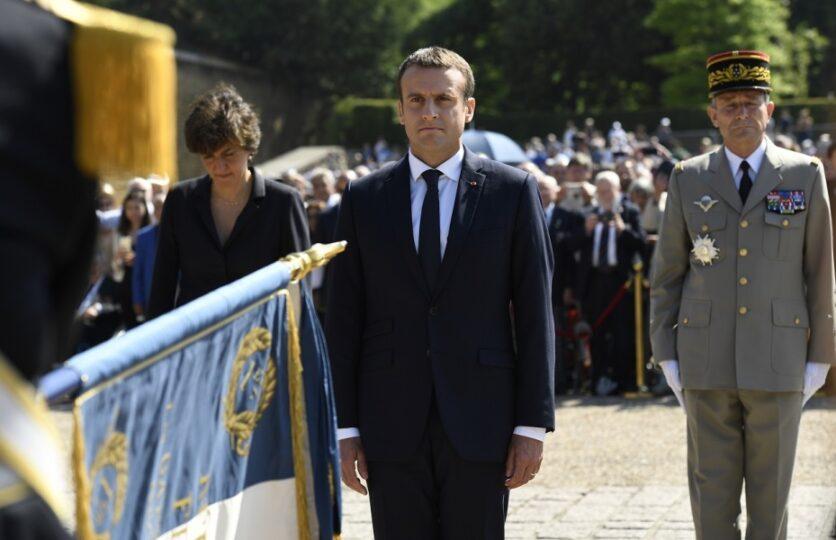 Emmanuel Macron au Mont Valérien, 18 juin 2017 (©Bertrand Guay - AFP)
