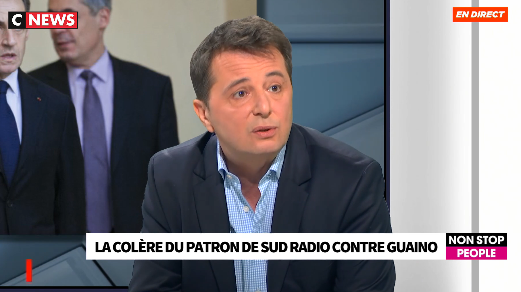 Didier Maïsto sur le plateau de CNews
