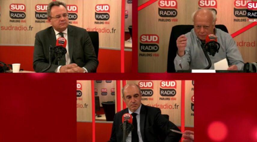 """Frédéric Pierucci et Olivier Marleix, invités d'André Bercoff dans """"Bercoff dans tous ses états"""" sur Sud Radio."""